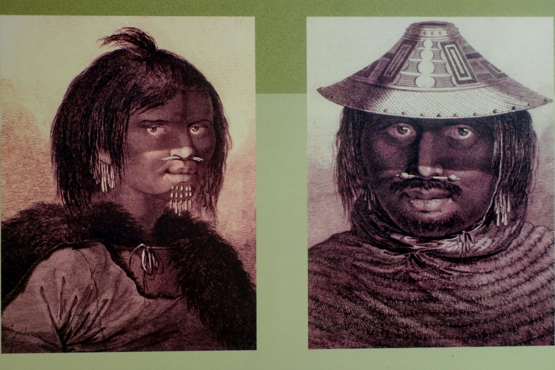 Indigenous Chugach men of Alaska in the Begich, Boggs Visitor Center