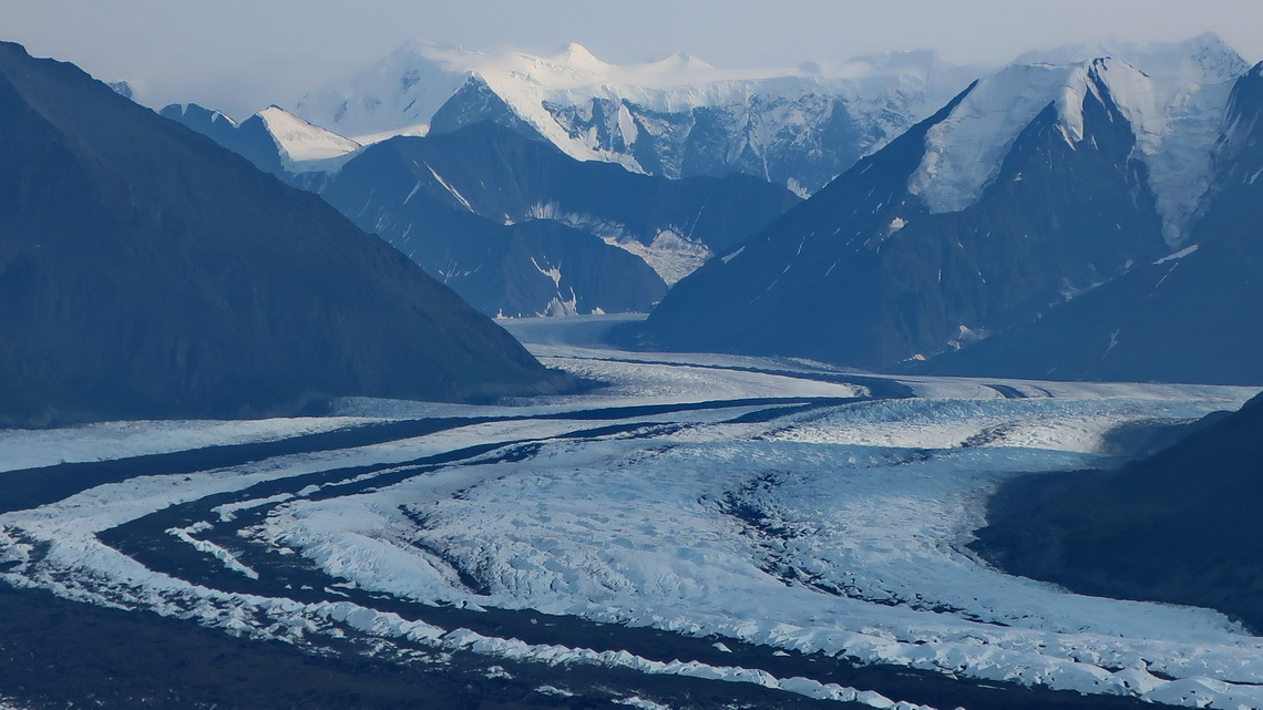 Icy Matanuska Glacier in the Chugach Mountains