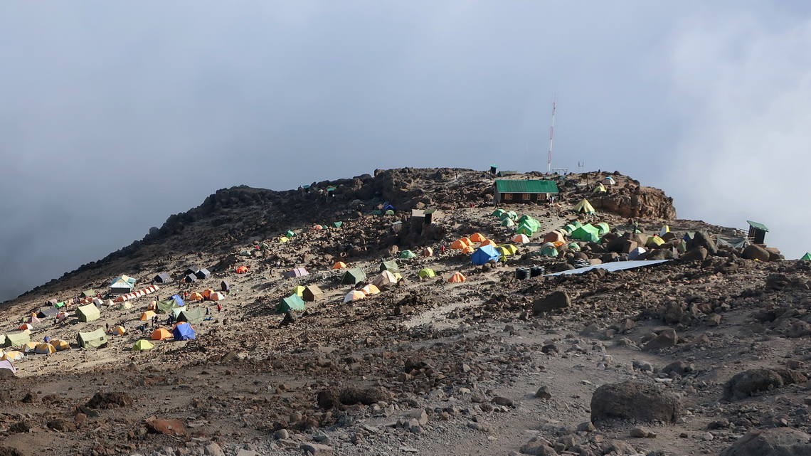 4666 meters high Barafu Camp, our 5th and summit camp