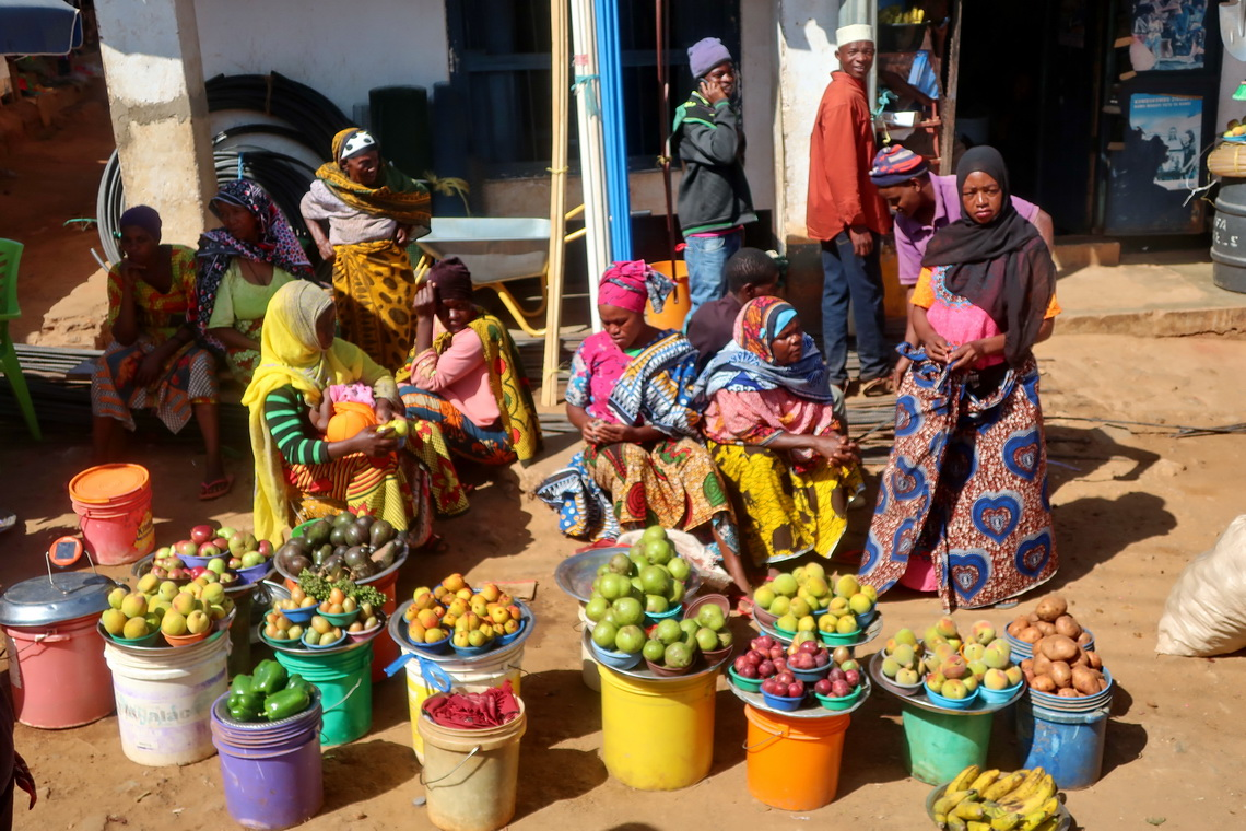 Market of Soni in the Usambara Mountains