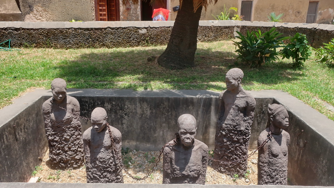 Touching memorial on the Old Slave Market of Stone Town