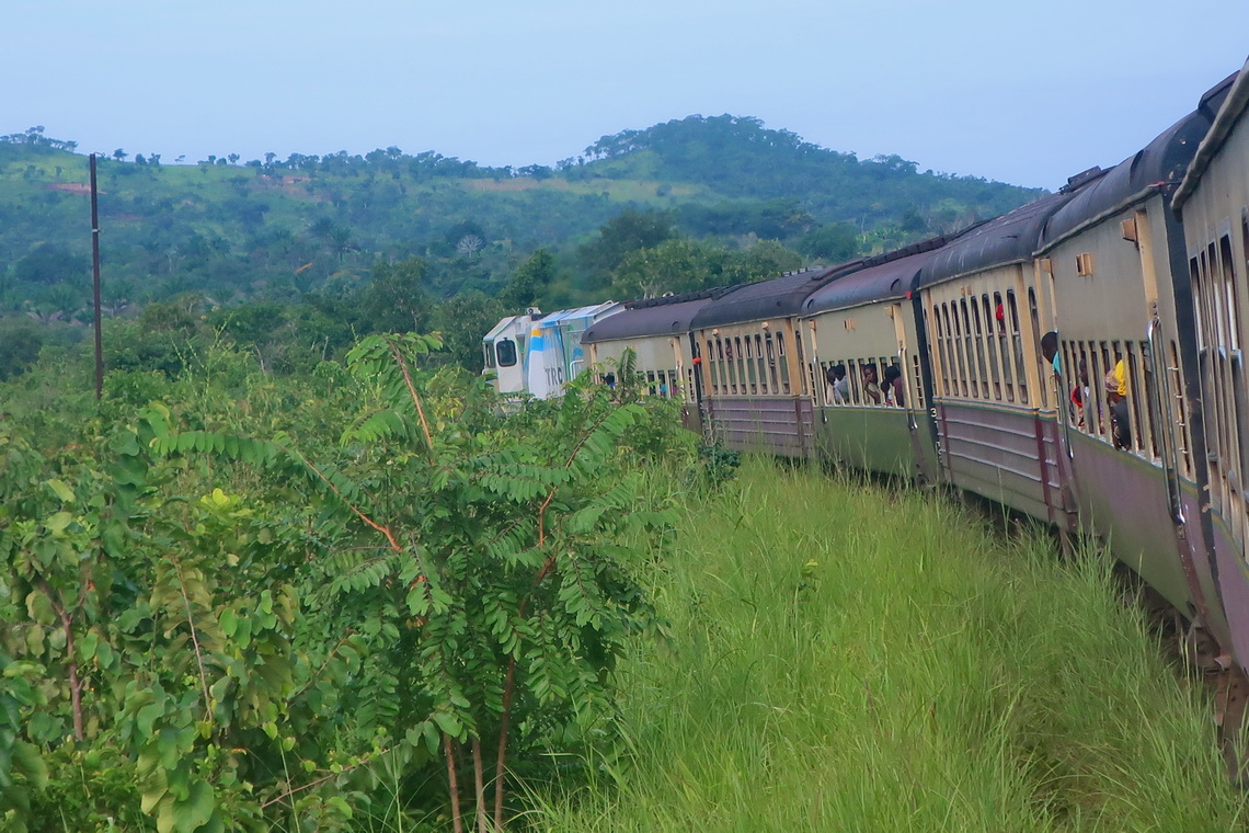 Our bumping train from Dar es Salaam to Kigoma