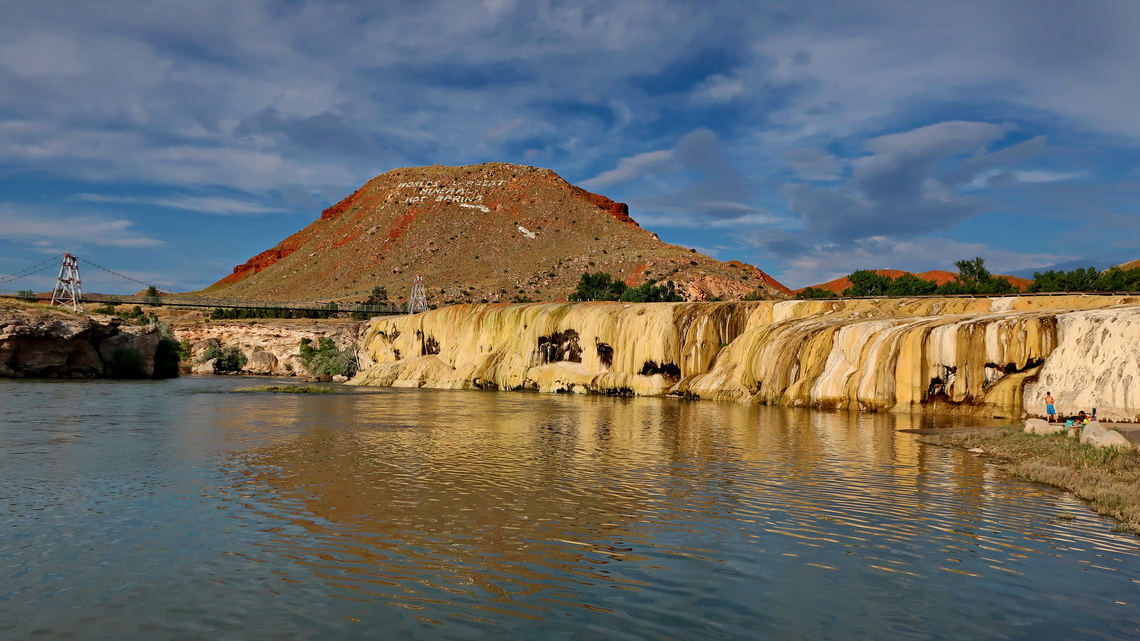 The volcanic area of Thermopolis