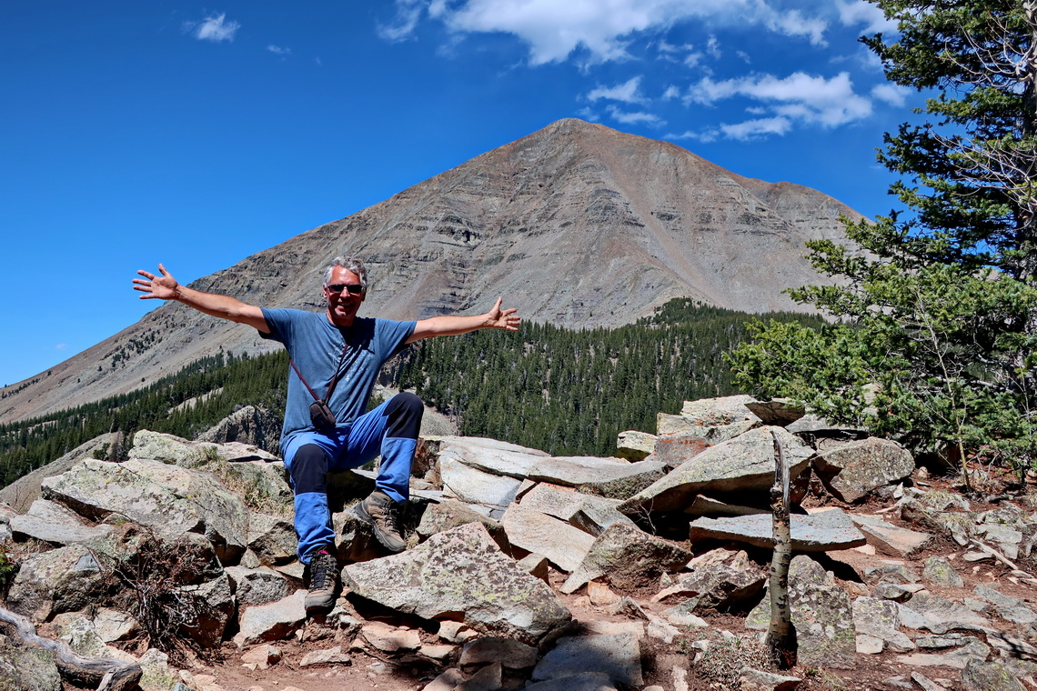 Alfred with rocky West Spanish Peak