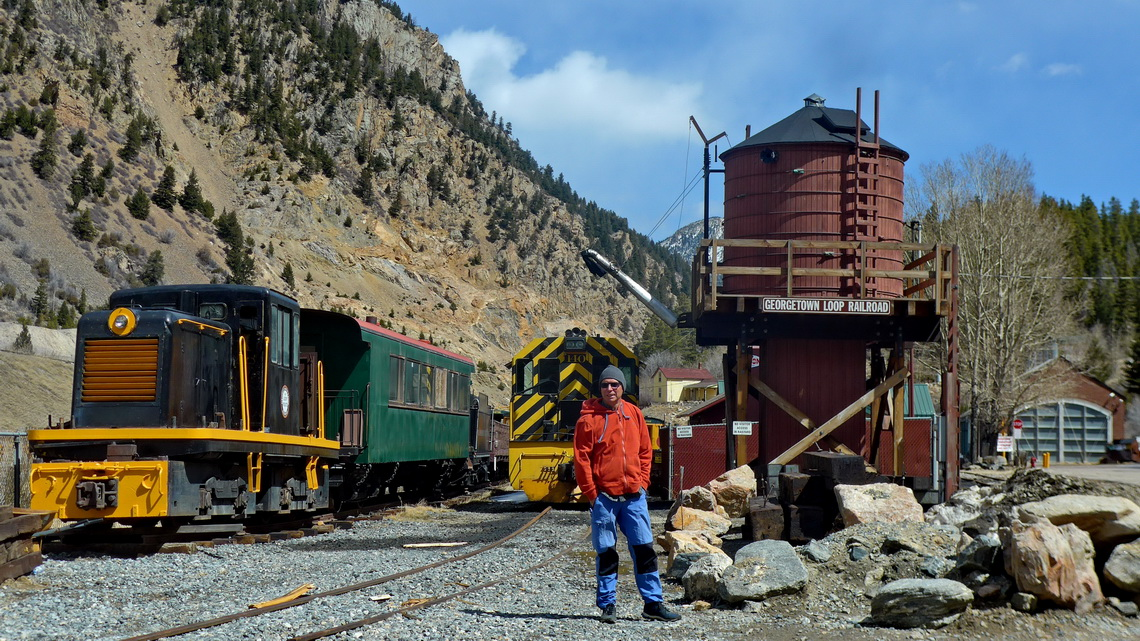 Alfred in the Morrison Railroad Center of Silver Plume