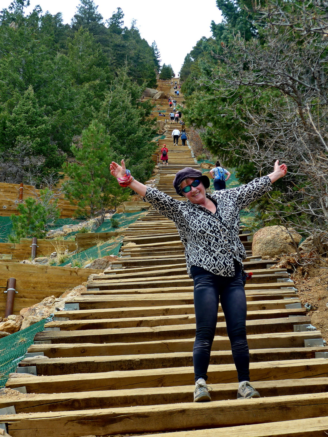 Marion on the bottom of 600 meters high Manitou Incline