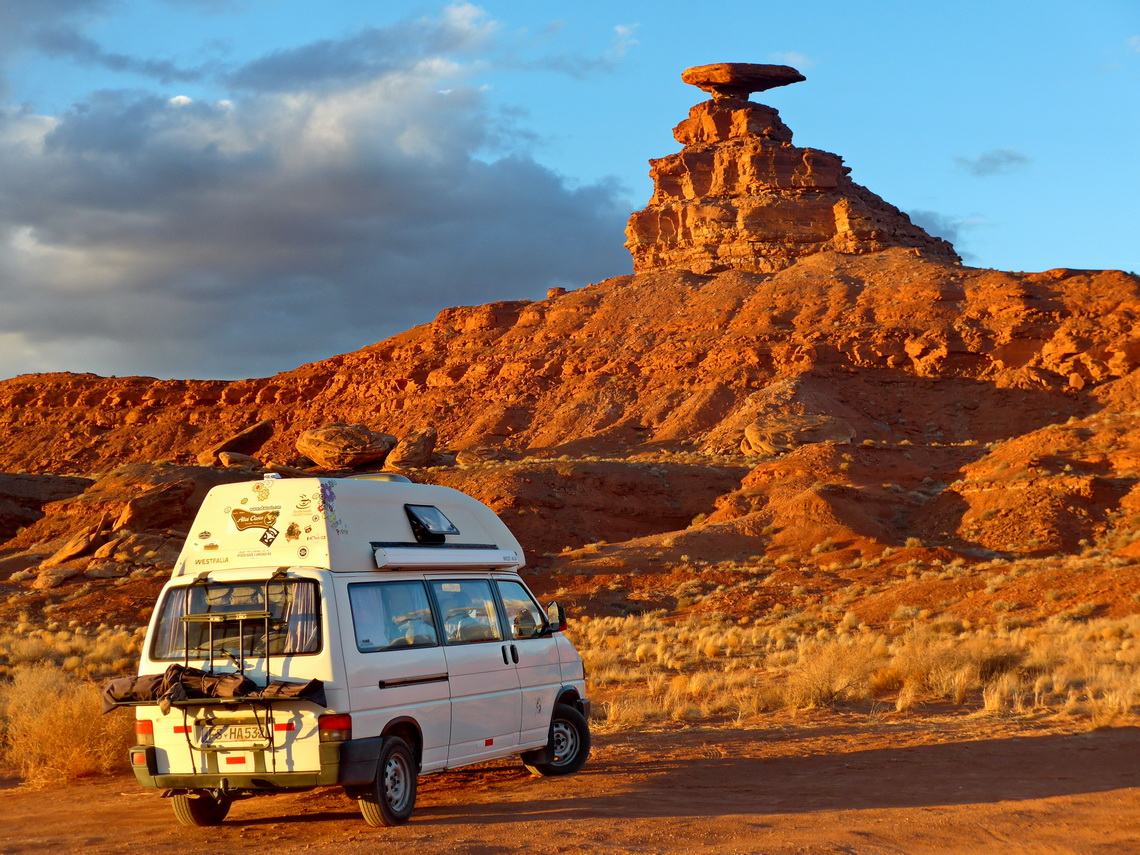 Mexican Hat with our nice campsite