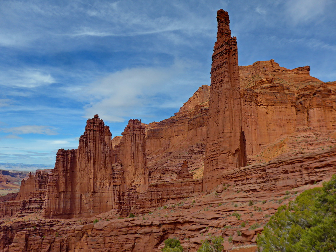 Fisher Towers seen from the photopoint