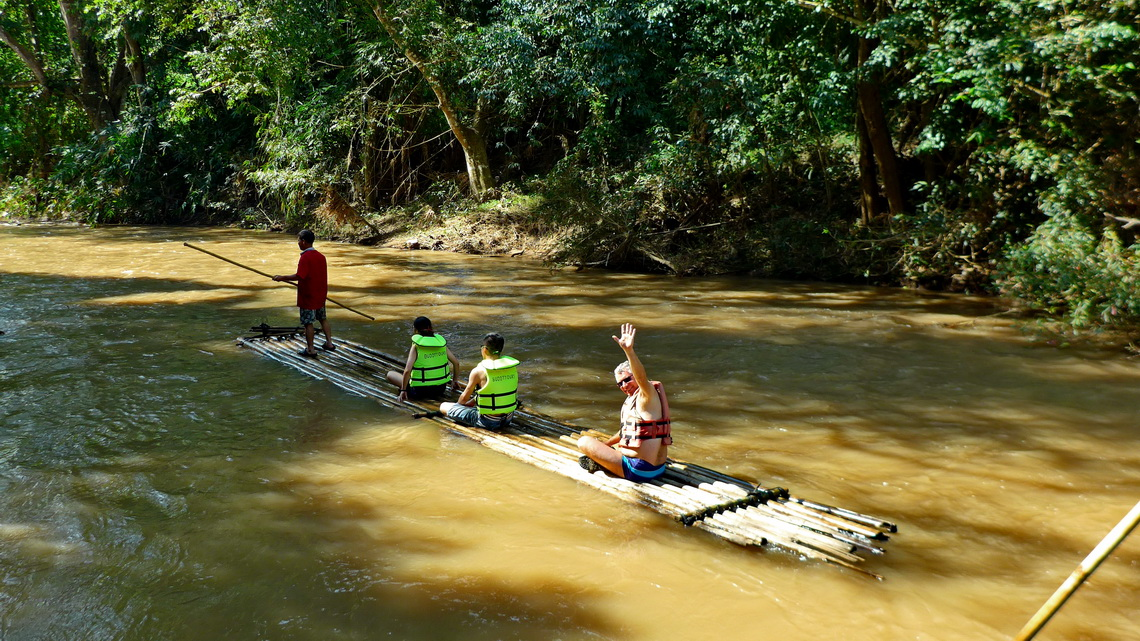 Bamboo rafting - what a fun!