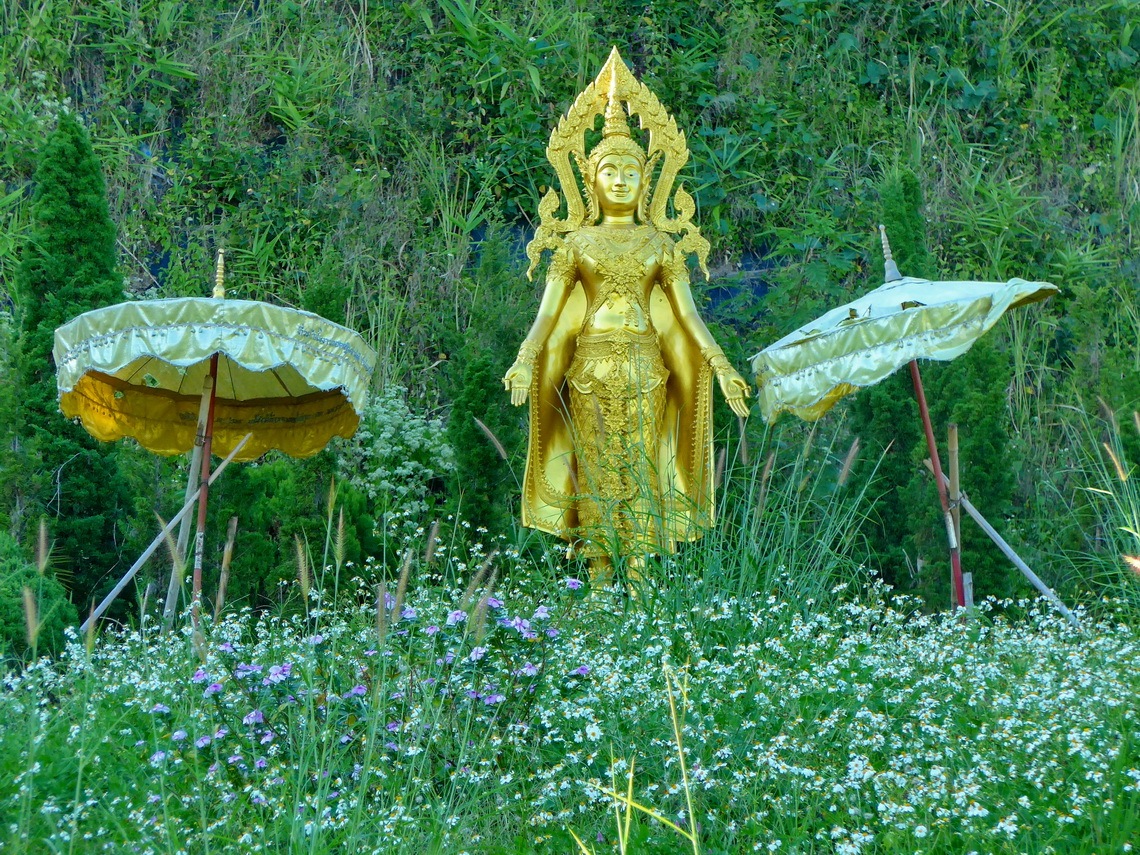 Golden Buddha in the jungle