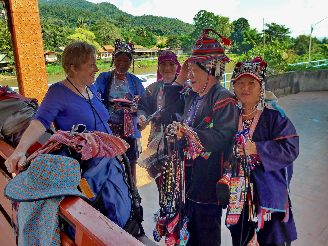 Port of Tha Ton with indigenous Karen people