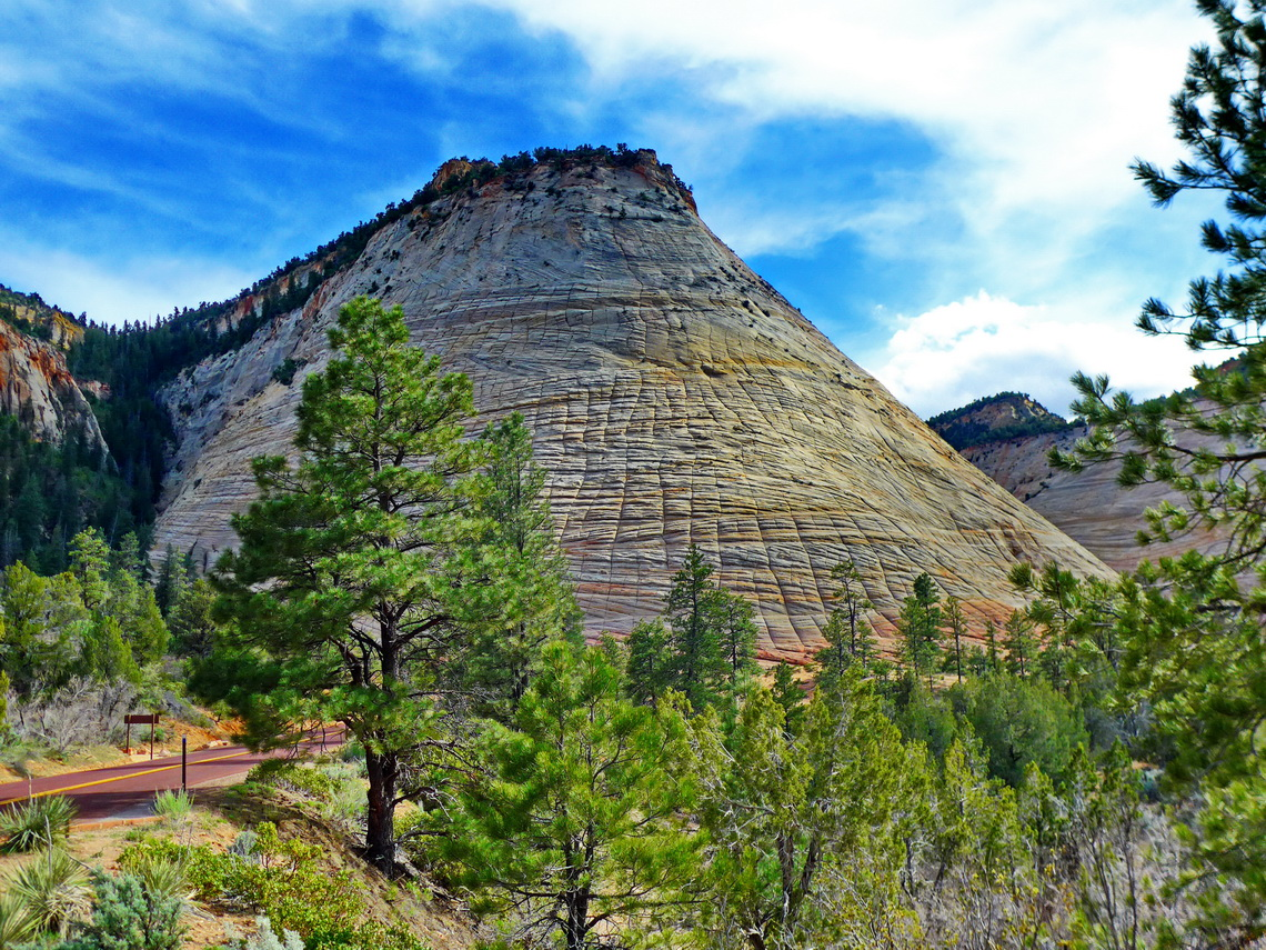 Checkerboard Mesa on the eastern side of Zion National Park