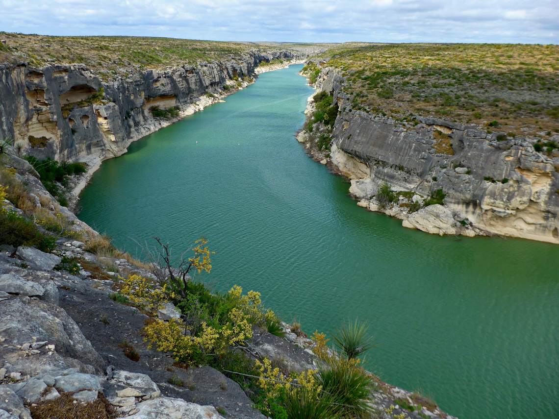 The green river in the Seminole Canyon