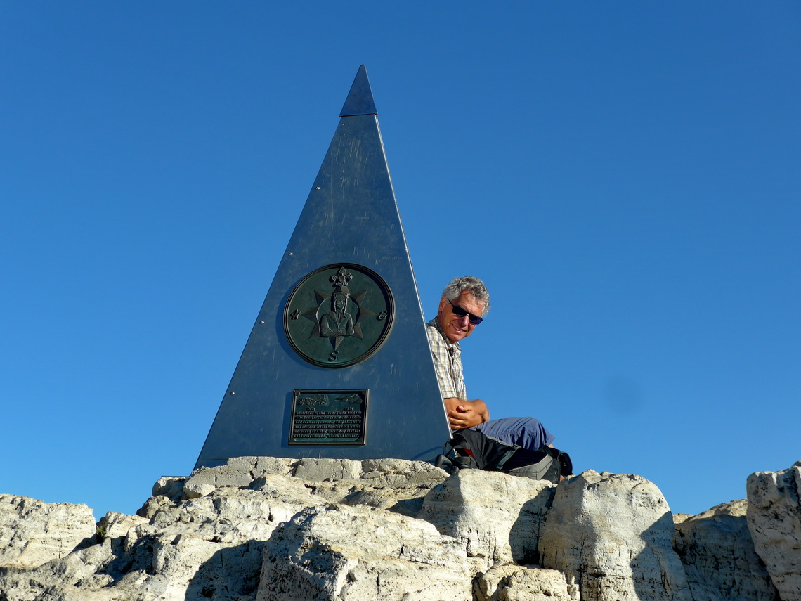 Alfred on the summit of Guadalupe Peak