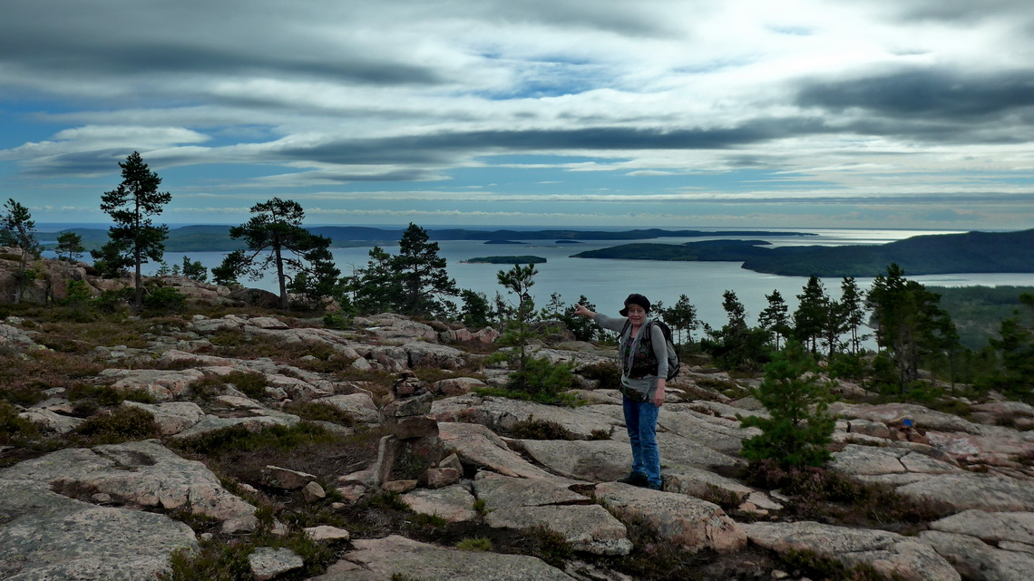 View from the ascent to Slåttdalsberget to the Baltic Sea