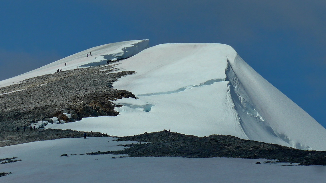 Icy summit of Glittertinden