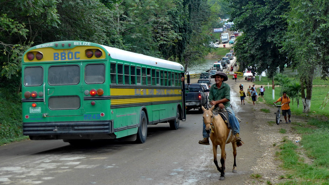 Saturday afternoon traffic of San Ignacio