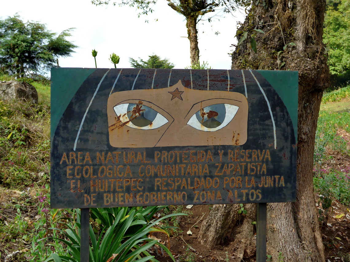 Zapatista sign in rural Chiapas