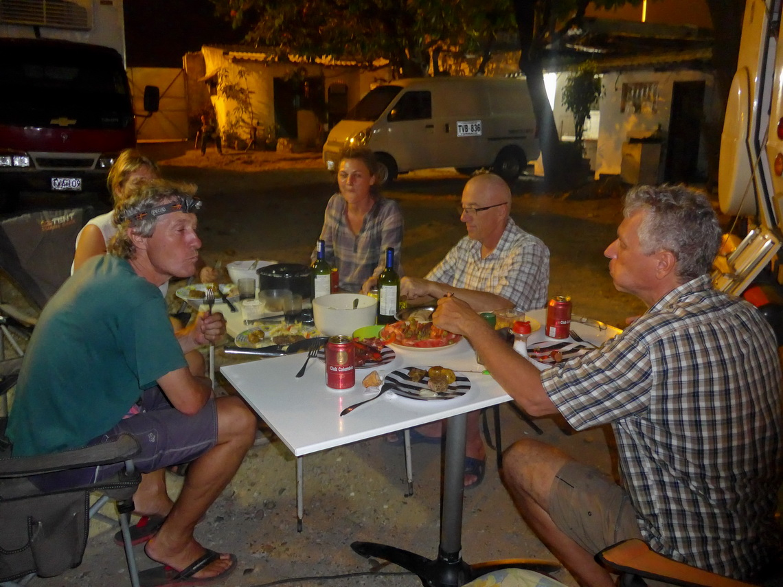 With our Swiss friends on the campsite Hotel Bellavista