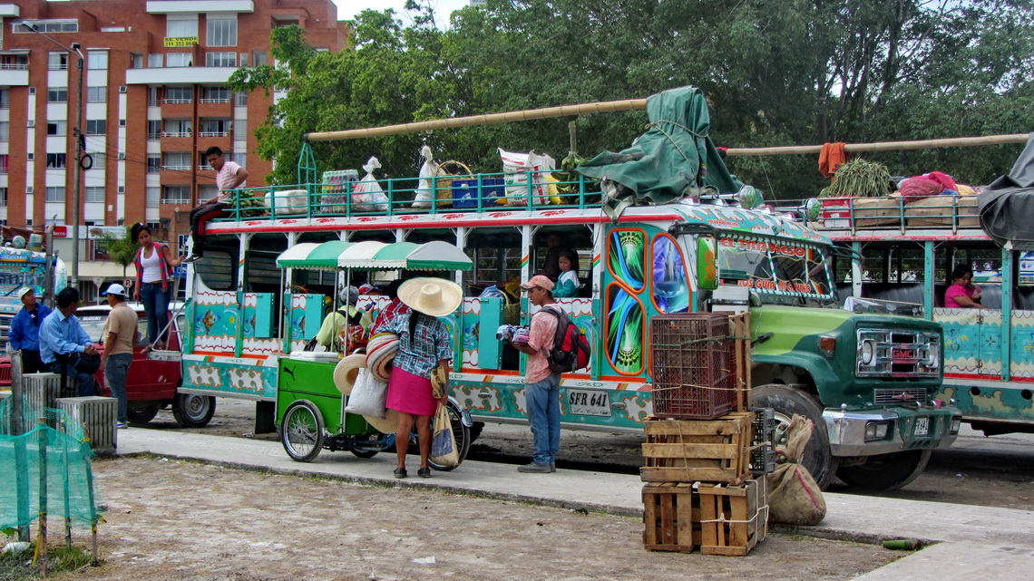 Local buses to the villages close to Popayan