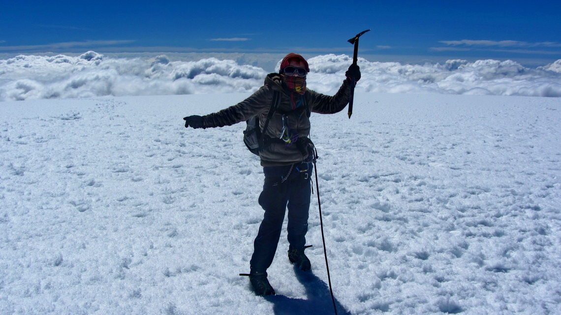 On top of Nevado del Tolima, 5215 meters sea-level