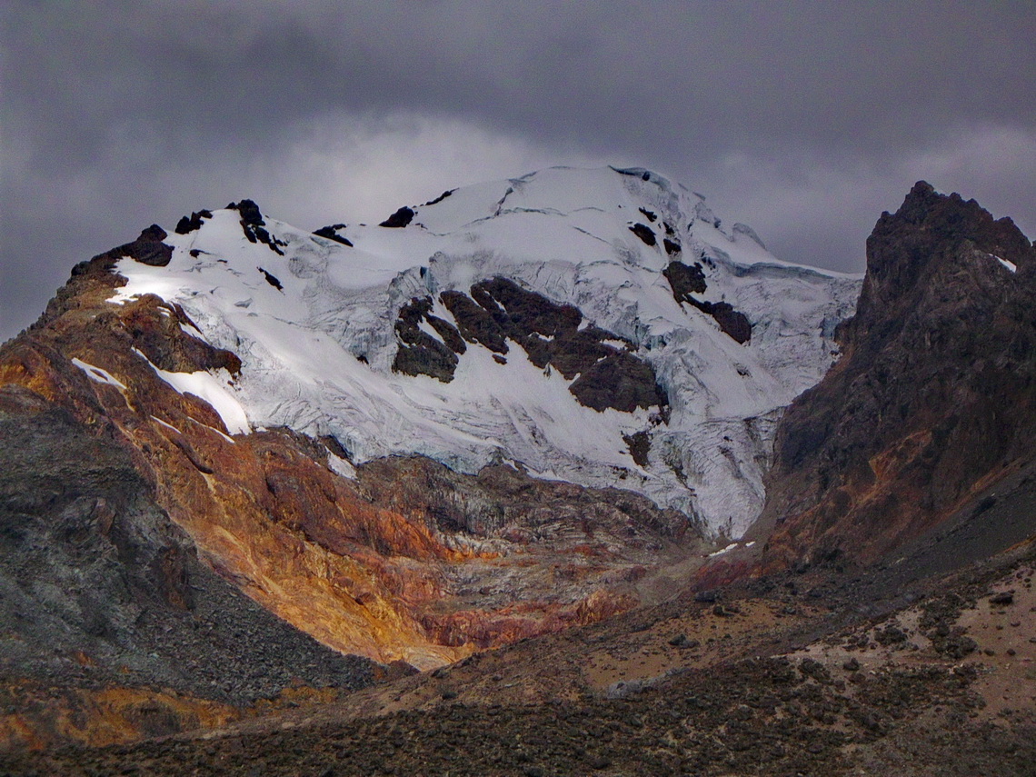 Colorful Nevado Diablo Mudo, 5350 meters high