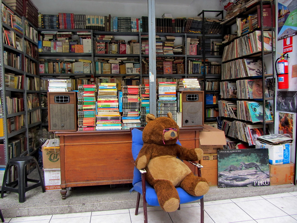 Bookstore nearby church San Marcelo
