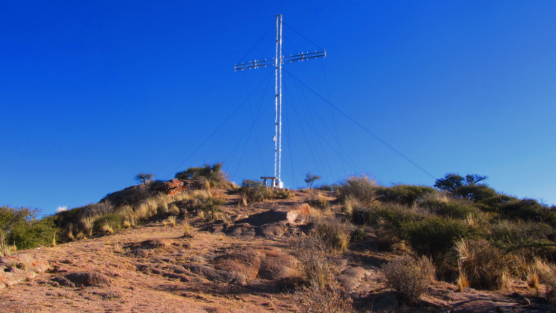 Summit of Cerro San Isidro with its huge cross