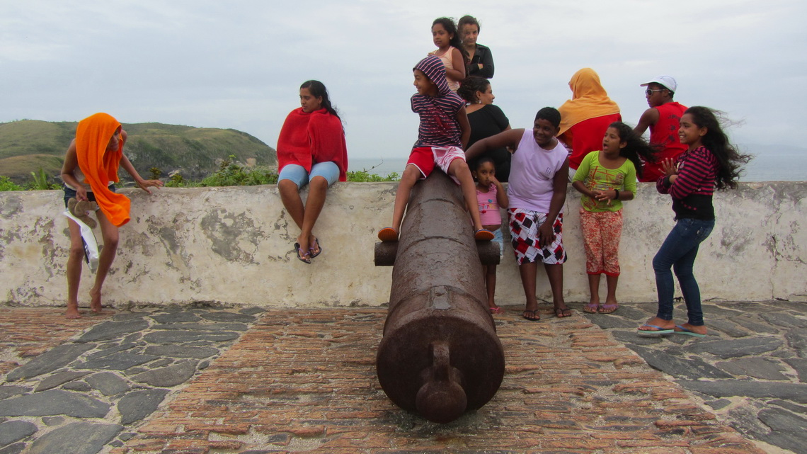 In the fortress Sao Mateus in the town Cabo Frio