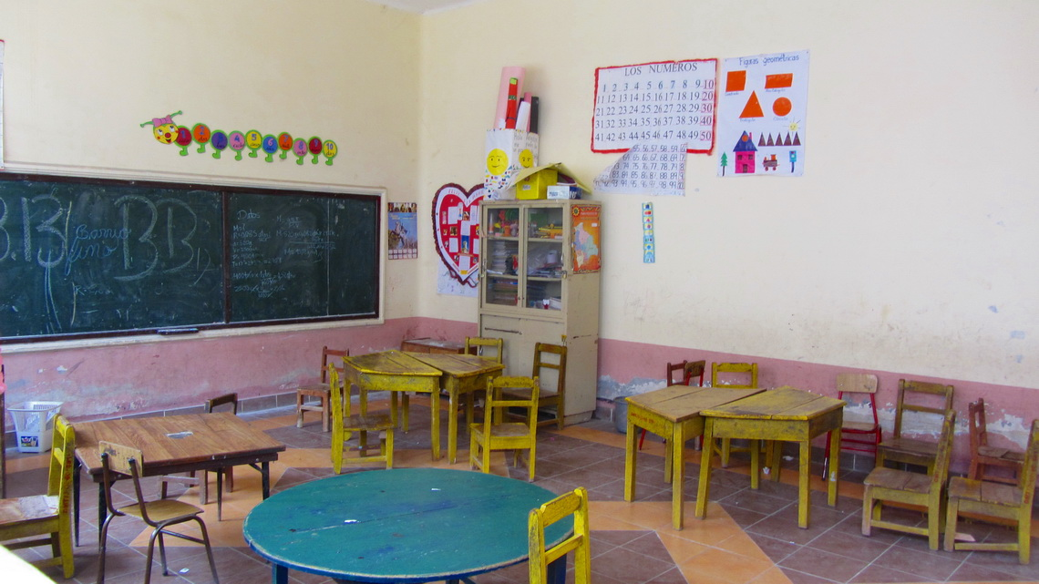 Schoolroom in a renovated building