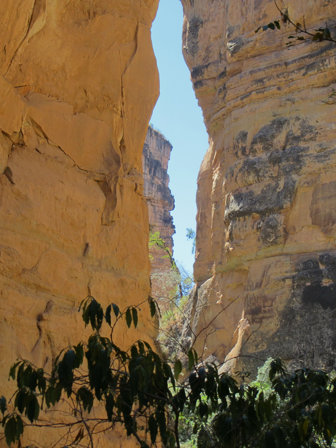 Very steep and narrow canyon