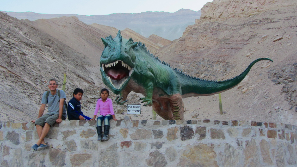 Dinosaur in the valley of Rio Majes