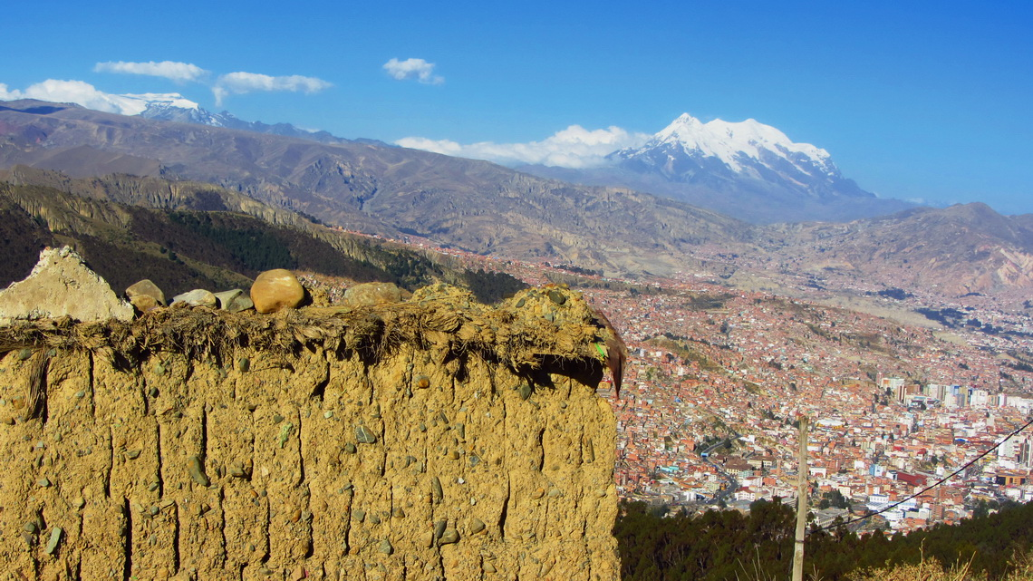 In the outskirts of El Alto with Nevado Illimani