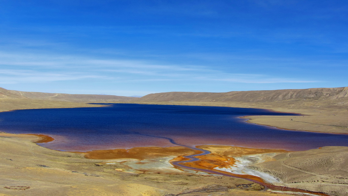Laguna Milluni on the way back to El Alto