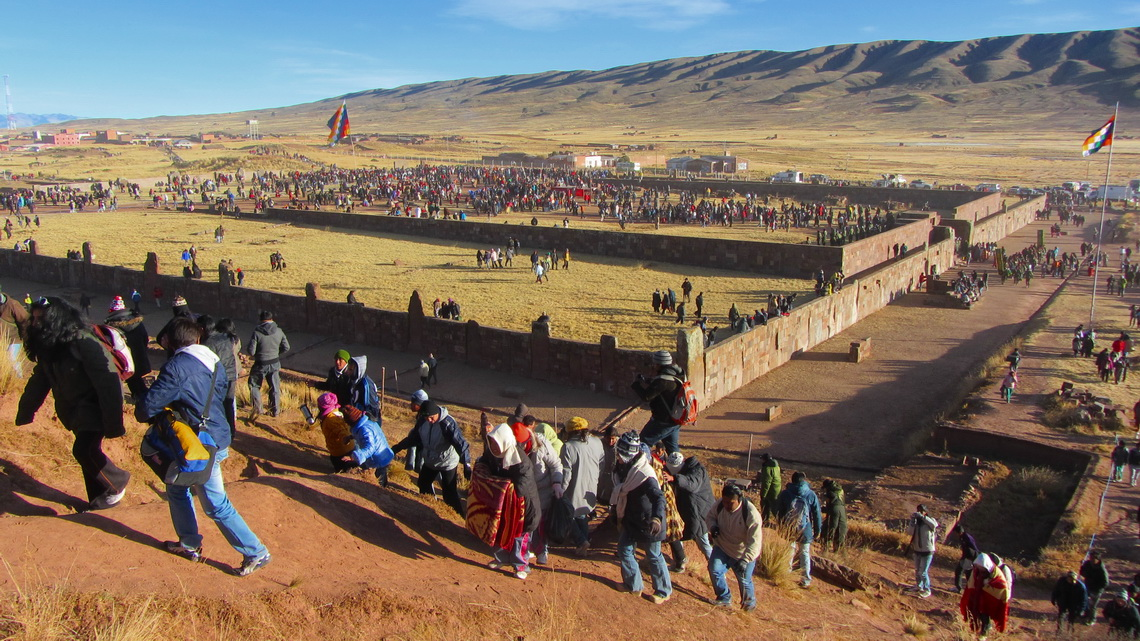 Crowded ancient Tiwanaku