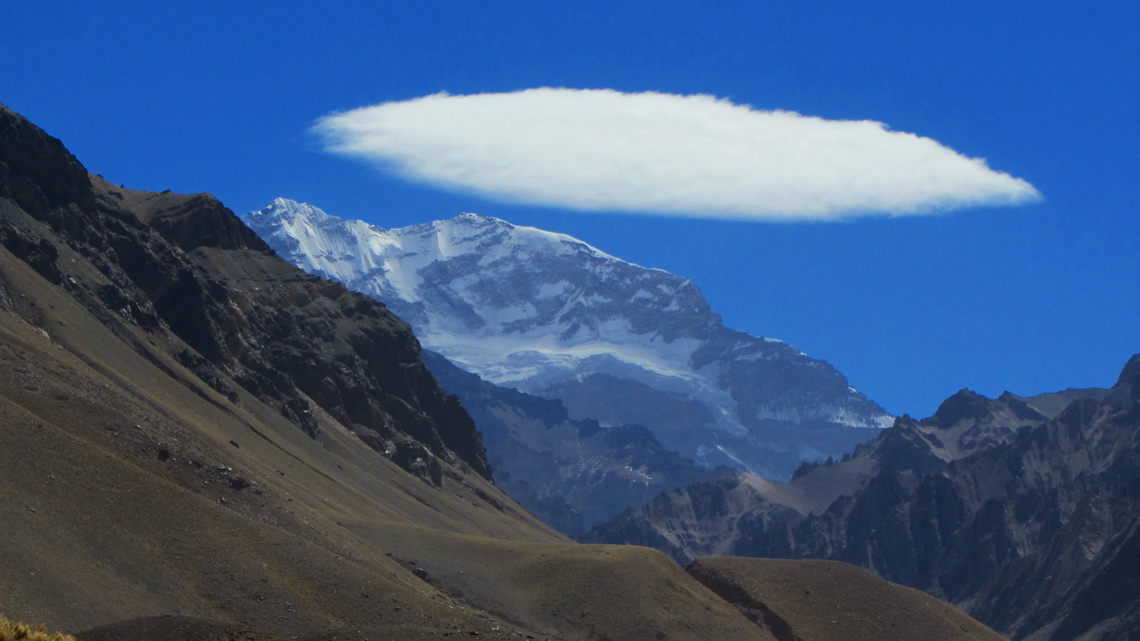 Majestic Cerro Aconcagua, the highest point of America