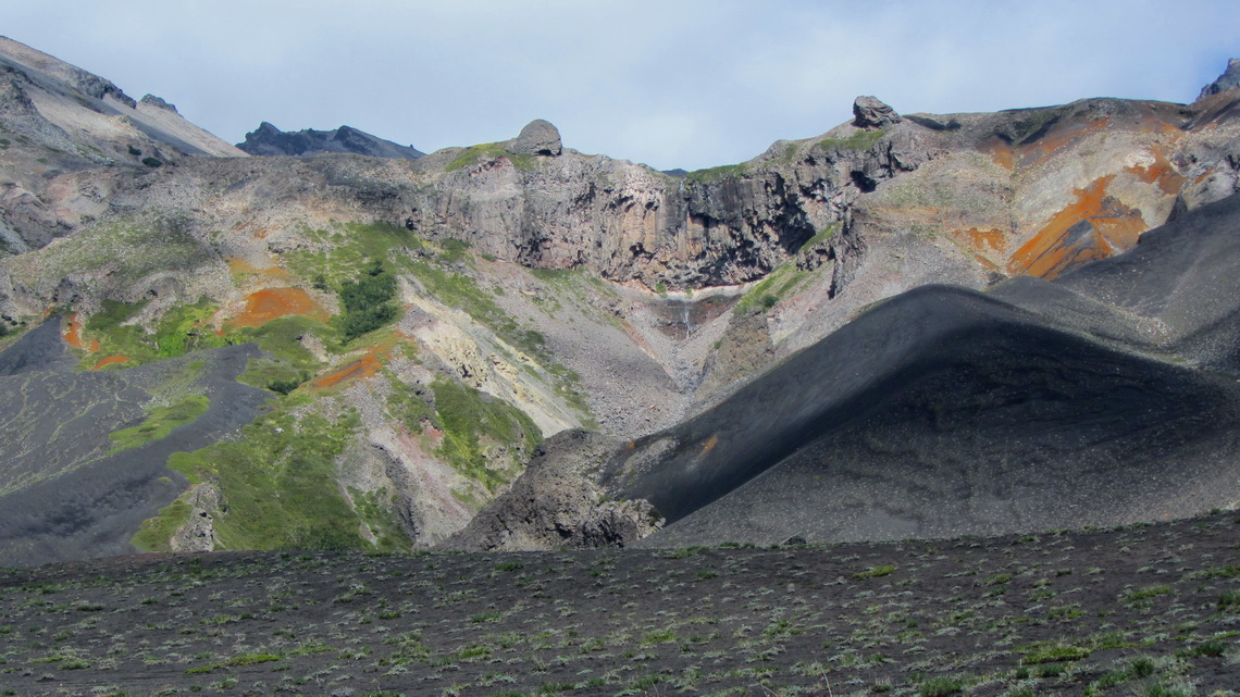 Colors of the volcanoes