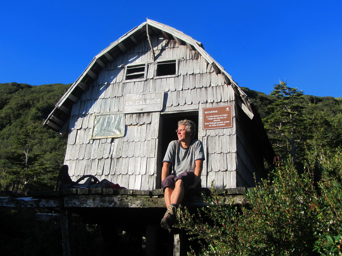 The mountain hut of Volcan Calbuco