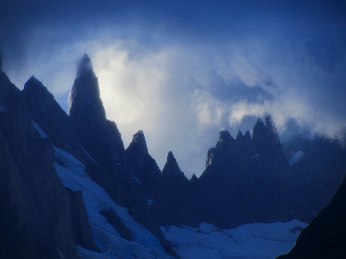 The lower pinnacles North of Cerro Torre