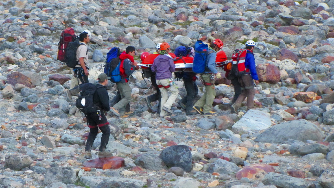 A mountain rescue from Cerro Torre