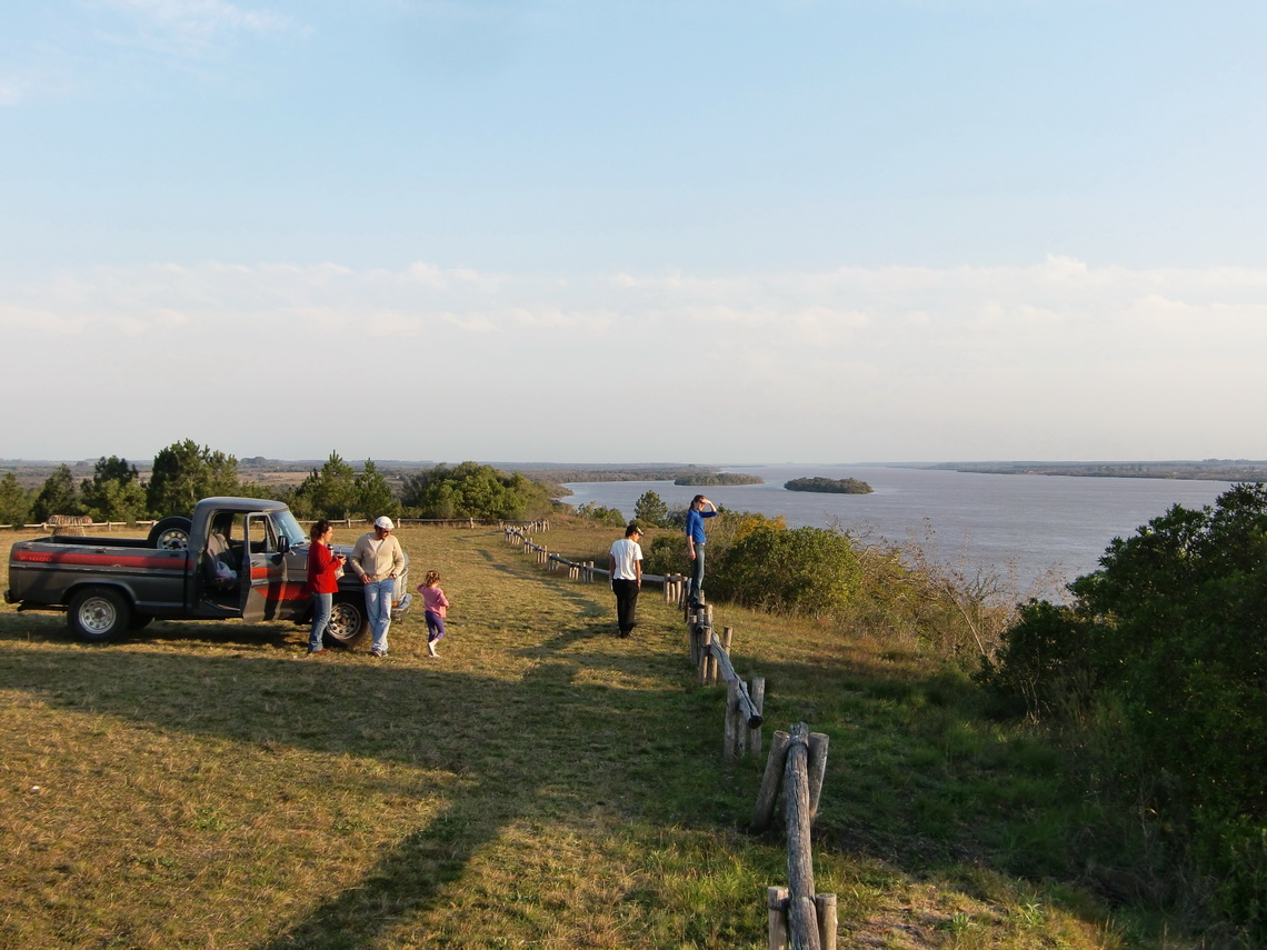 Rio Uruguay from the Meseta de Artigas