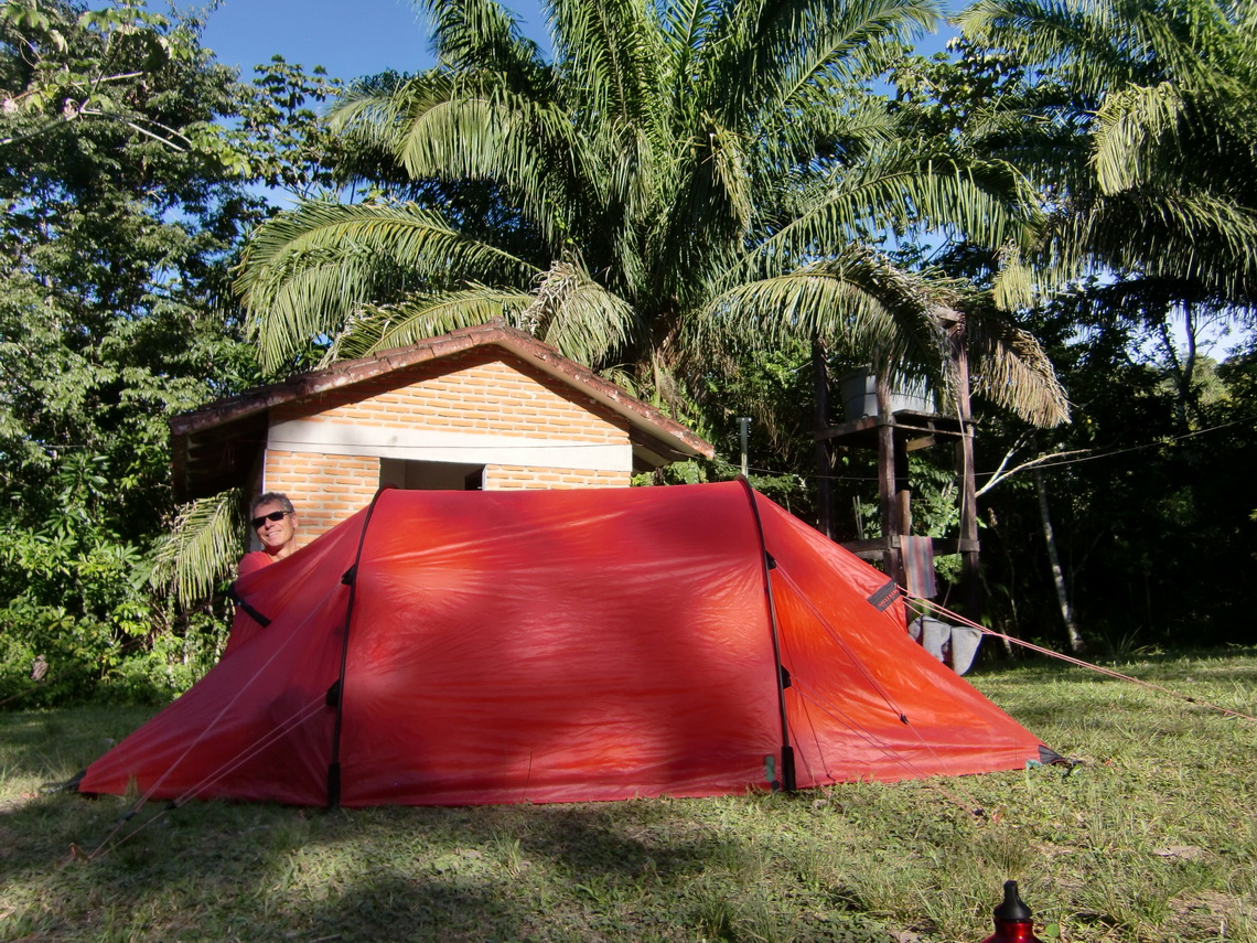 Our tent in the Matacaru camp