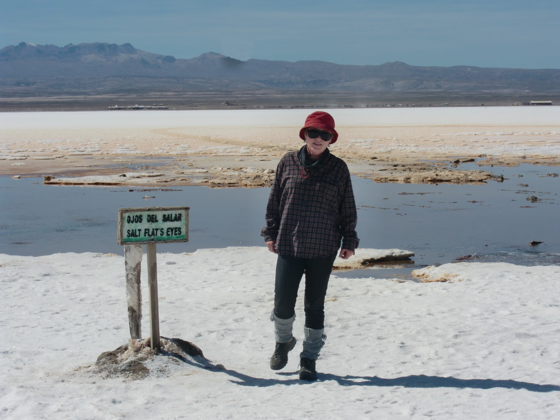 At the Ojos del Salar - Eyes of the salt lake