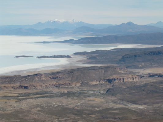 Salar de Uyuni from the western summit of Volcano Tunupa