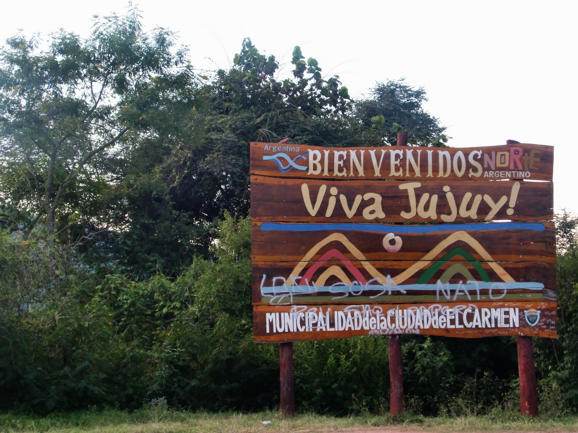 The border between the provinces Salta and Jujuy