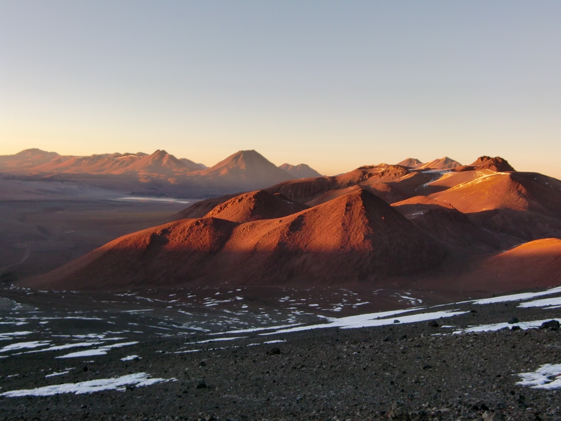 Sunrise over the Atacama desert