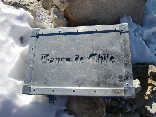 Banco de Chile is everywhere, also on Chile's highest point