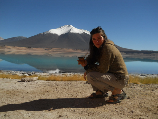 Paula with the Laguna Verde