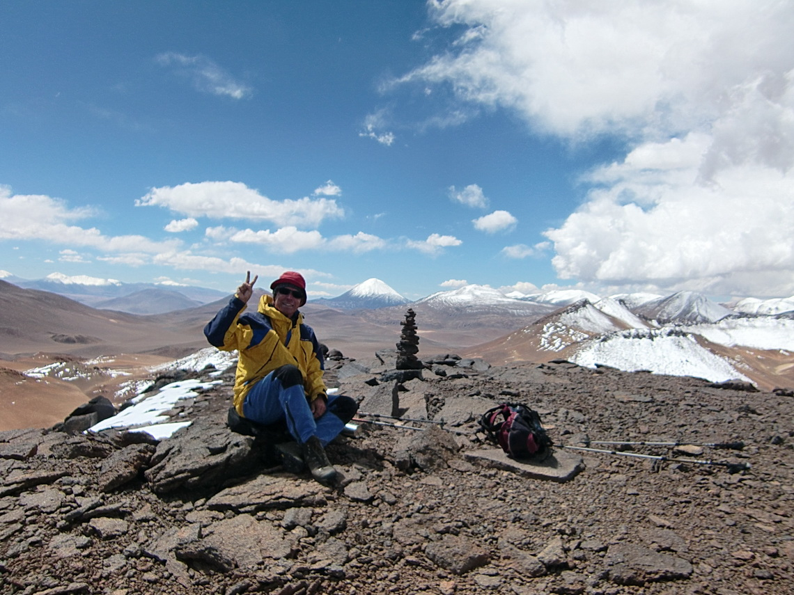 Summit of Volcan Bertrand, 5254 meters high