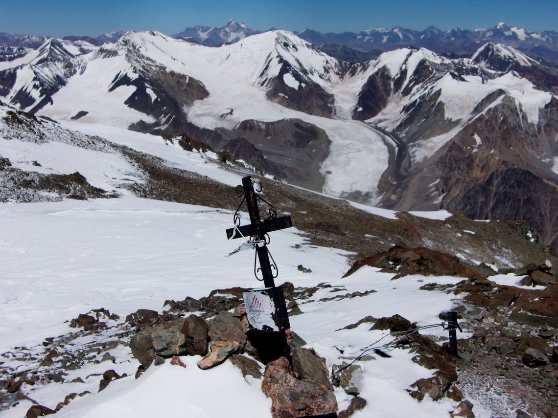 The High Andes from the summit of Cerro Plata
